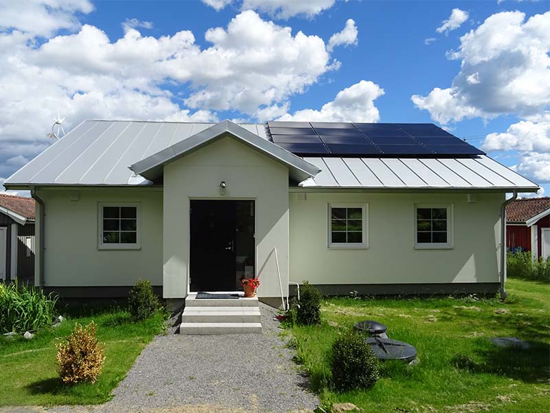 Off-grid hus ett referensobjekt för Energy Building