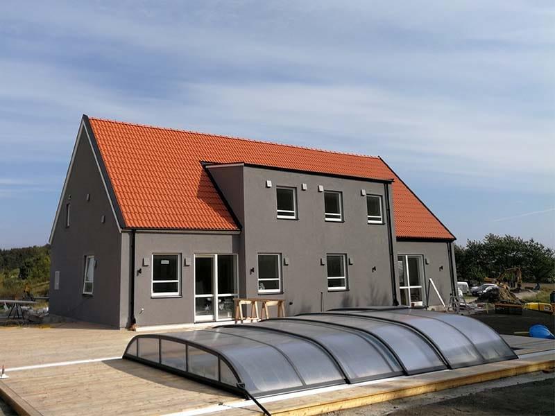 2-tvåfamiljshus med 3 brandceller decentraliserad ventilation från Lunos